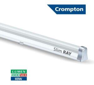 2. Crompton Slim Ray 18-Watt LED Tube Light