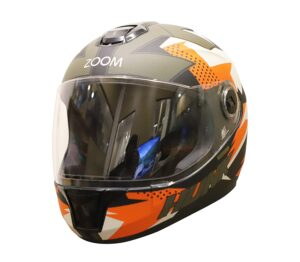 Steelbird Sbh-11/Vision Decal Hunk Helmet Matte- Black,Orange